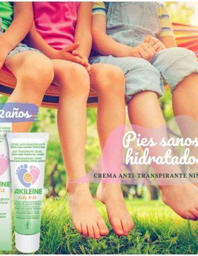 Crema anti-transpirante para niños