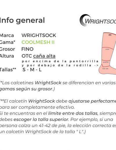 WrightSock - Double layer sock Coolmesh II OTC