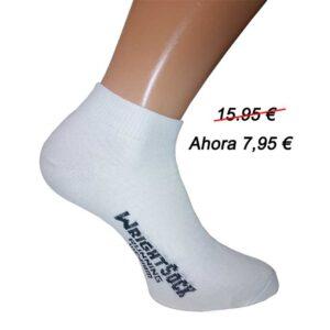 calcetin tobillera blanca