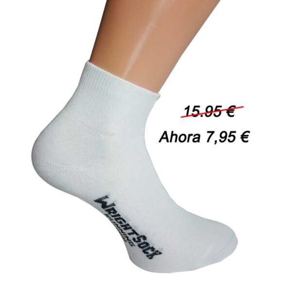 calcetin tobillero blanco