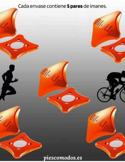 Imanes para dorsal - Color naranja